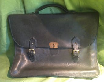 Chesneau Leather Briefcase/Computer Bag Made in Ireland for Harrods