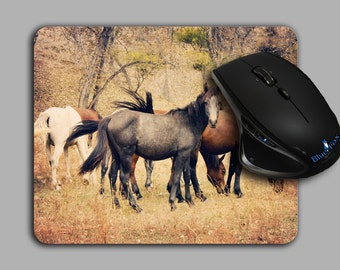 Horses,Mouse Pad,horse lover Mouse Pad,Equestrian,Horse Decor,Office Gift,Cloth Top mousepad,MP-111