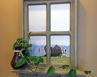 Beach Photo Window Pane Annapolis Beach Photo Fake Window Andirondack Chair Photo