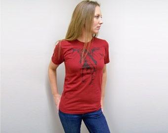 Mens t shirt, Elephant shirt, Alabama t-shirt, American Apparel, crimson, tide, Roll Tide shirt, for her, girlfriend gift, for wife, rctees