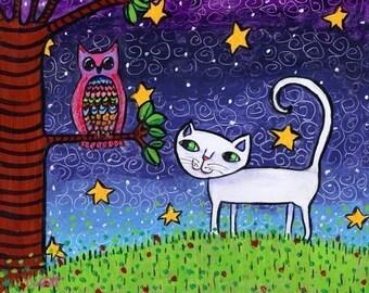 Owl and the Pussycat -Shelagh Duffett  Print