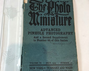 The Photo Miniture Advanced Pinhole Photography 1905