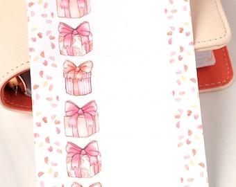 Foldout Birthday Present Stickers ~ Personal Size Sheet- For Filofax, Kikki K, Happy Planner, Erin Condren Life Planner, diary, calendar