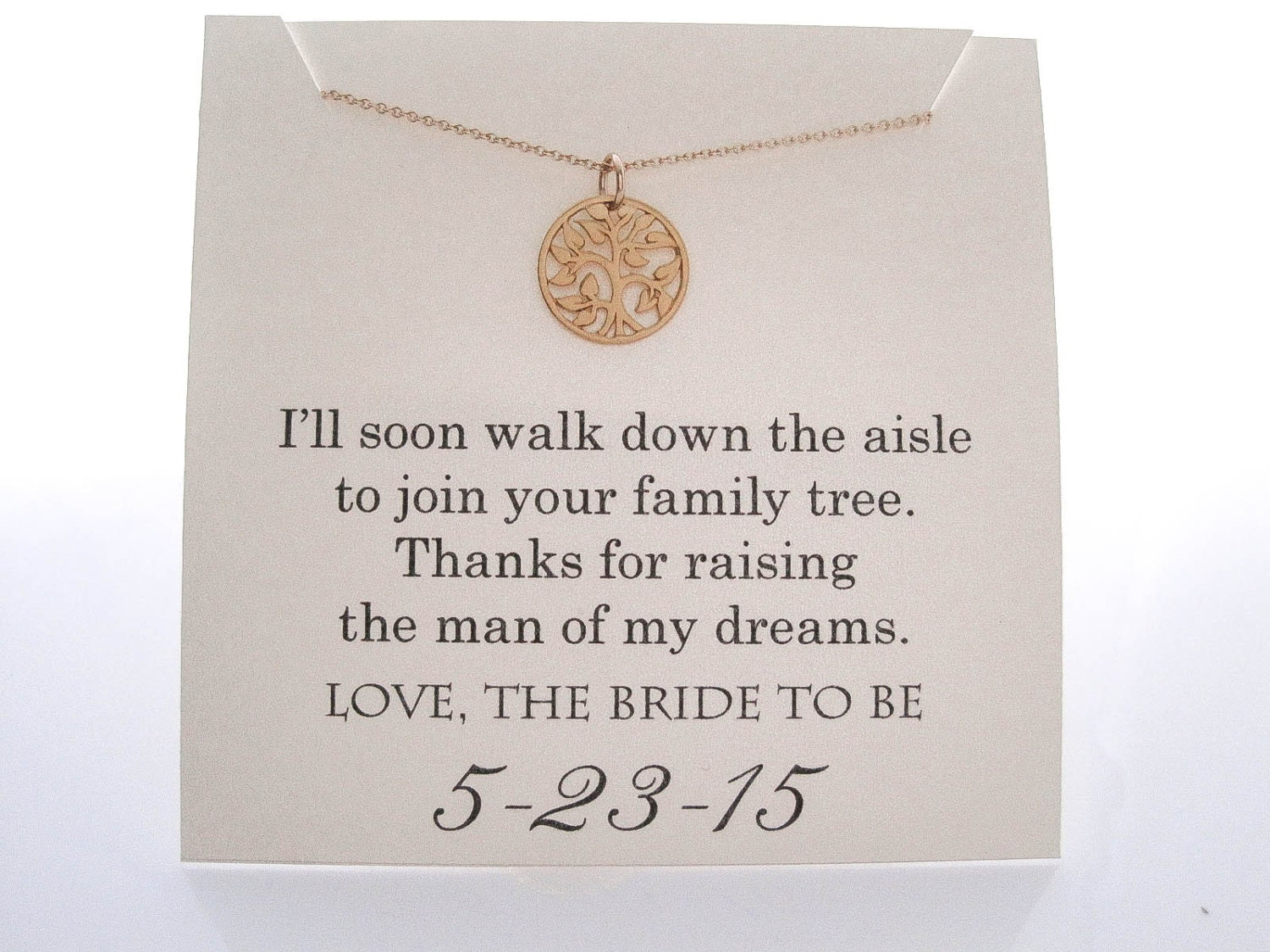 Mother Of The Groom Necklace Gifts