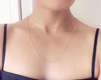 Layered Choker, Layered Gold Choker, Dainty Layered Choker, Dainty Gold Choker, Layered Gold Necklace, Dainty Layered Necklace, Gold Choker