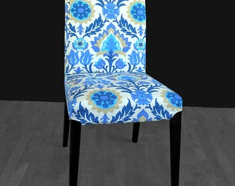 Blue Flower IKEA HENRIKSDAL Chair Cover
