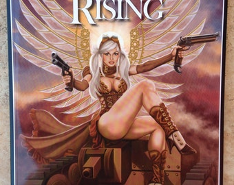 Signed Steampunk Rising: The Art of Sandra Chang-Adair 48-Page Full-Color Book