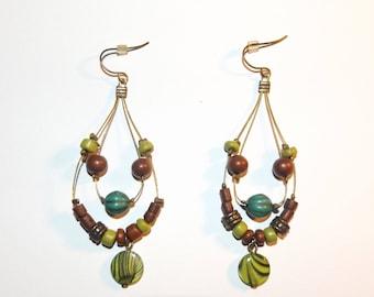 Wonderful Handcrafted Vintage Earrings