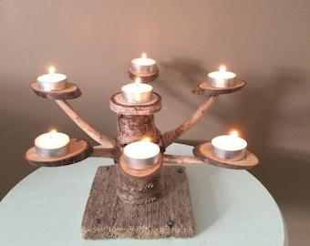 Driftwood t light holder