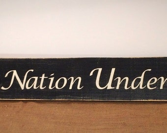 July 4th decor. One nation under God sign. Patriotic signs. Patriotic decor. Fourth of July decorations.  Rustic signs. Americana decor