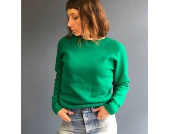 SML | 1970's Pannill Green Raglan Sweatshirt