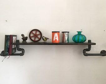 Shelf shelf in hydraulic pipes Vintage/Industrial style.