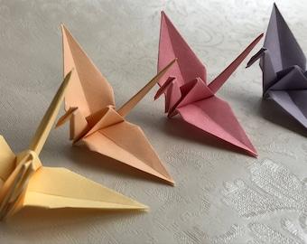 100 Origami Cranes - German Paper - Pastel colors