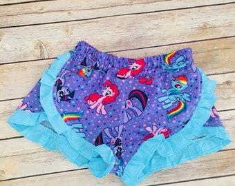 My little pony ruffle shorts size 5