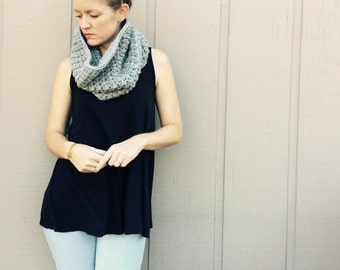 2 Crochet Patterns: Infinity Scarf cowl, chunky bulky yarn, DIY, Roving yarneasy crochet P D F, scarf, cowl, Evie Cowl & Adele Cowl