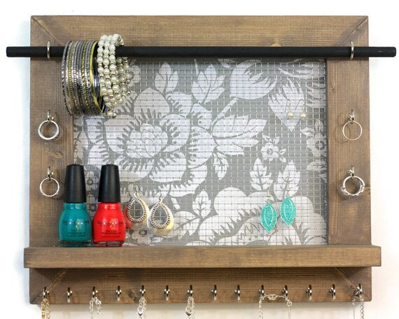 Jewelry Holder Jewelry Organizer Floral Pattern Display