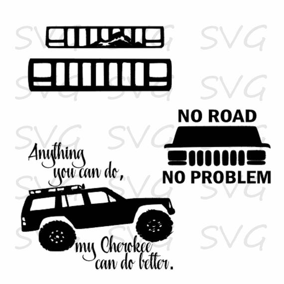 Download Jeep Cherokee Cut file svg dxf fcm eps and png. Instant