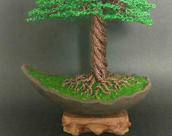 Green wire Tree Sculpture