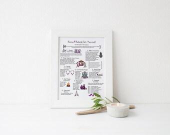 Modern Hindu Wedding Program- 1 Page Design {Wedding Schedule}