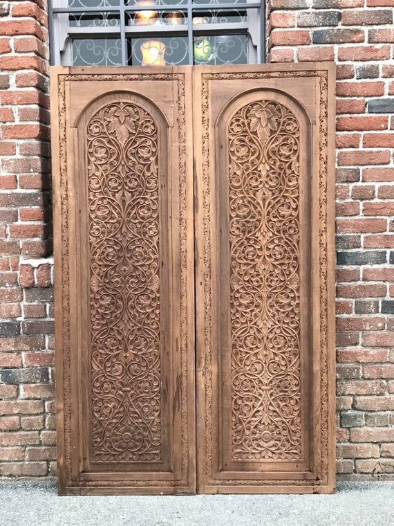 Pair of 19th C. Anglo Indian Doors, Carved Indian Doors, Pair of Antique  Indian Doors from DeCorPasadena on Etsy Studio - HOLD FOR KIRSTEN!!! Pair Of 19th C. Anglo Indian Doors, Carved