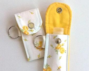 Vintage floral Lip Balm case, Lip Balm keyring, Spring floral, Summer floral, little things, Mother's day gift, spring gift under 10