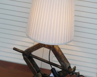 Vintage Lamp Light Industrial Loft Bar Wagenheber Lampe