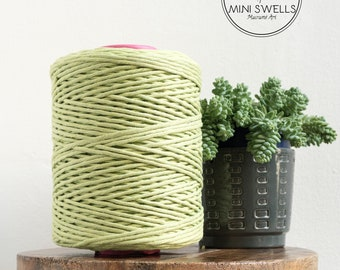 Spring Green Cotton Rope - Super Soft Luxe Cotton Cord - 5mm - Macrame Rope - Diy Macrame - Rope - Weaving - Macrame