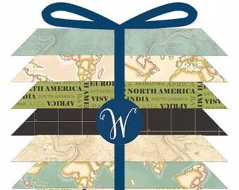 Meridian Fat Quarter Bundle, 15 Pieces, Whistler Studios, Windham Fabrics, Precut Fabric, Quilt Fabric, Cotton Fabric