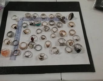 Used lot of 40 assorted Rings with minor issues