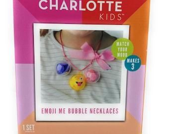Handmade Charlotte Kids- Happy Himmeli, Emoji Me Bubble Necklaces- Make Your Own