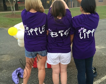 Big Little Sorority Shirts - Monogram Big Little Tshirt - Big Little Princess Reveal - Big Little sorority Reveal Shirts