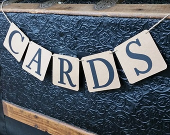 Petite Cards Banner, Petite Wedding Cards Sign, Wedding Decor, Cards Sign