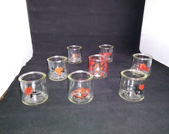 Valentines Day Candle Holder / Wine Glass - Add a loving touch with these hand-painted glass jars