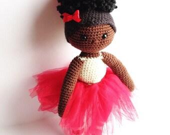 African American Ballerina Doll - Afro Puff(s) Ballerina Doll
