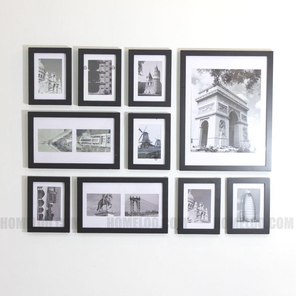 ensemble de cadre photo photo 10 moderne. Black Bedroom Furniture Sets. Home Design Ideas