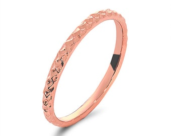 14k rose gold size5 band. special order.