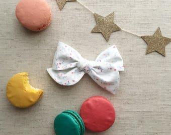 Les Petites Fleurs - Pinwheel Bow - hair clip or baby nylon headband