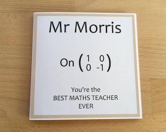 Best Maths Teacher, Teacher Appreciation, Math Geek, Maths Teacher Thank You, Personalised, Math Teacher Thank You, Retirement, Matrix Maths