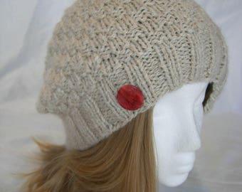 Softest Baby Alpaca Slouch hat hand knit winter hat beanie