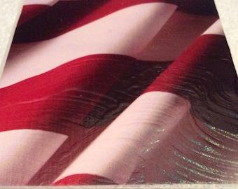 FLAG STRIPES PATRIOTIC NightLight- Decoupage Stained Glass Night Light ST2