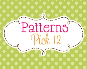 12 Crochet or Knitting Patterns Savings Pack, PDF File, Permission to Sell Finished Items, Bundle Deal