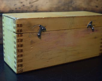 Vintage Industrial Wood Box