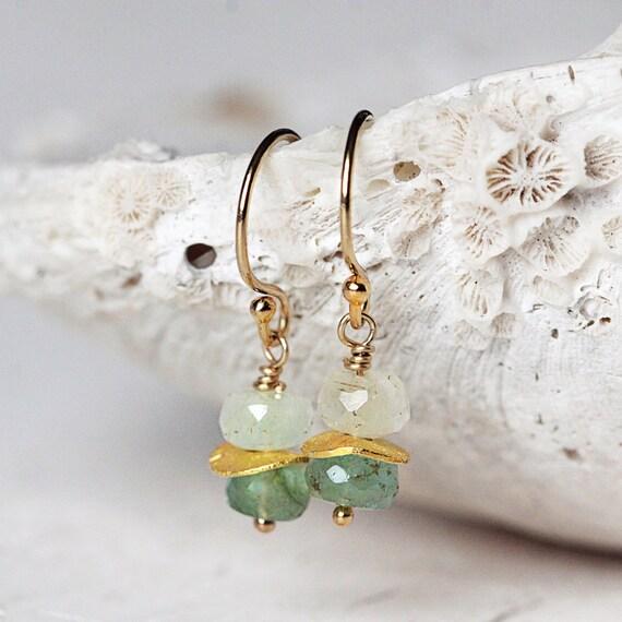 Gold Emerald Earrings - Emerald Drop Earrings