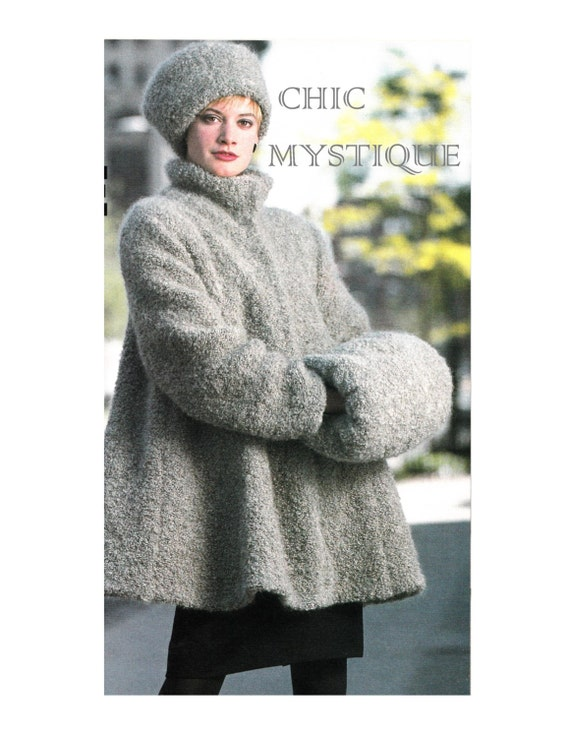 Digital Download Vintage Knit Trapeze Coat, Toque, & Muff ...