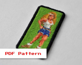 Cross Stitch PDF Pattern - Zanthia on the Island in the Sky - Legend of Kyrandia - Modern Embroidery - Vintage Video Game - Pixel Art