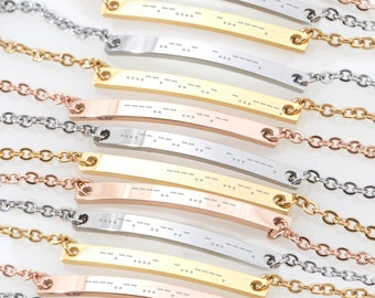 CUSTOM Morse Code Bracelet - Bridesmaid Gift, Birthday Gift for Sister, Mother, BFF, Best Friend, Daughter, Wife, Girlfriend Bracelet 2018