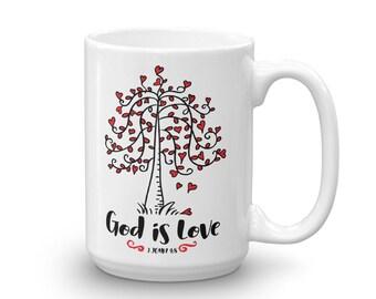 God Is Love - 1 John 4:8 Mug