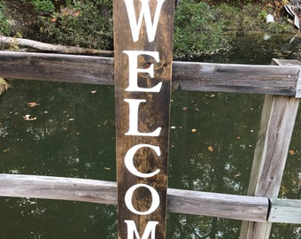 Welcome sign, porch welcome sign, porch sign, wood welcome sign