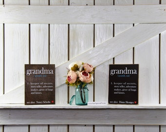 Personalized Grandma sign, gift, Definition of a grandma sign