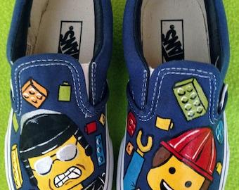 Boy's Custom LEGO MOVIE Inspired VANS Slip On Shoes